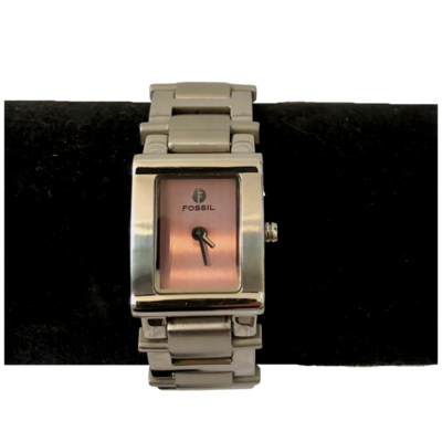 Fossil Pink Face Stainless Steel Women's Watch