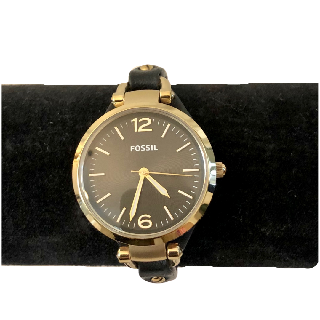 Fossil ES3148 Watch with Genuine Leather Watchband
