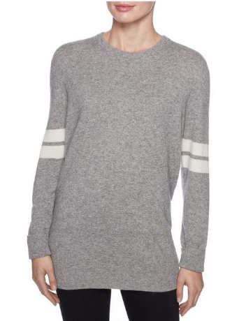Magaschoni Heather Grey 100% Cashmere Sweater Women's Small
