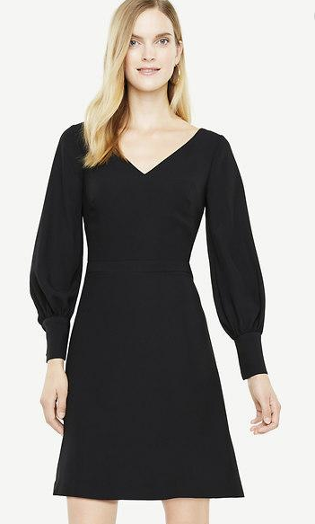 Ann Taylor Lantern Sleeve Flare Dress Women's 6