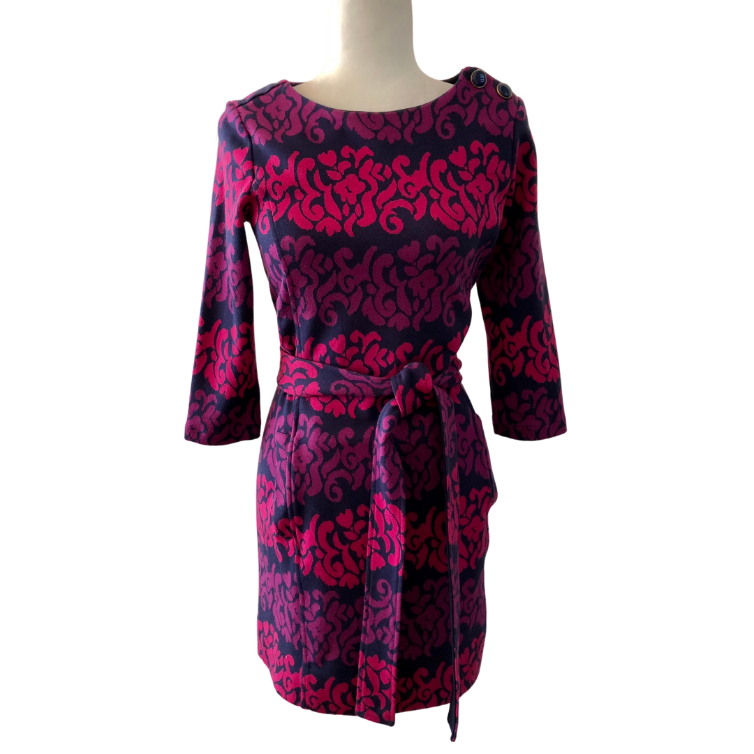 Lilly Pulitzer Multicolored Knit 3/4 Sleeve Dress Women's Small