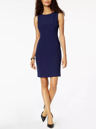 Jenni Max NYC Lined Sleeveless Sheath Dress Women's 6
