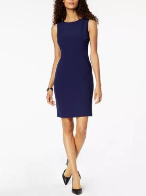 Jenni Max NYC Lined Sleeveless Sheath Dress Women's 6