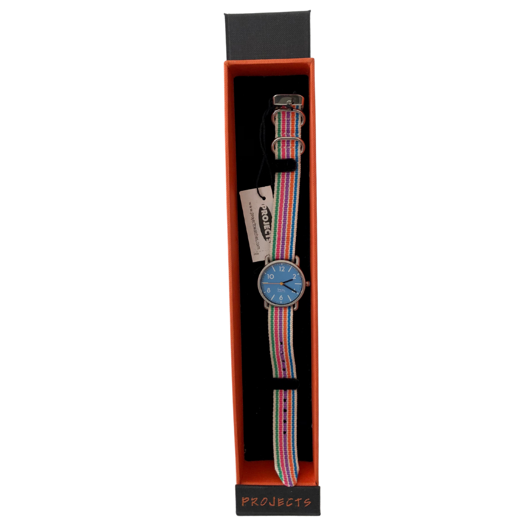 Projects Watch with Multicolored Watch Band