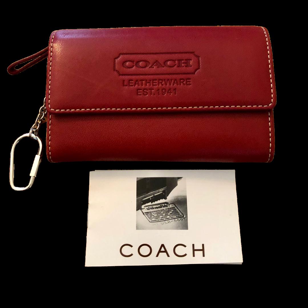 COACH Red Leatherware Est. 1941 Wallet
