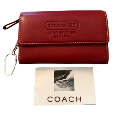 COACH Red Leatherware Est. 1941 Wallet
