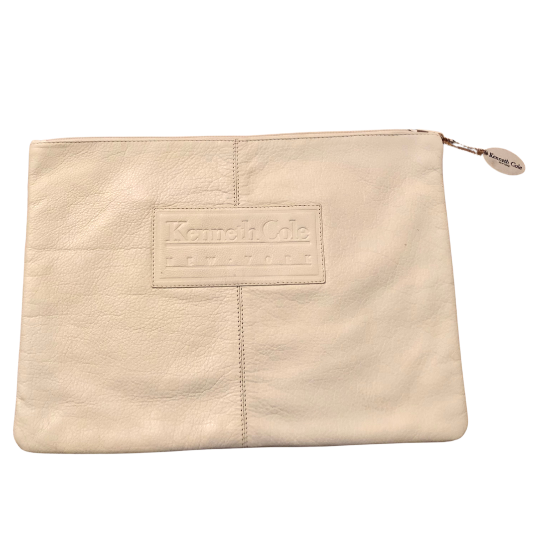 Kenneth Cole New York Soft French Vanilla Leather Laptop Sleeve