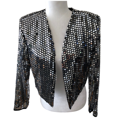 Lew Magram Collection New York Sequin Bolero Jacket Women's Medium