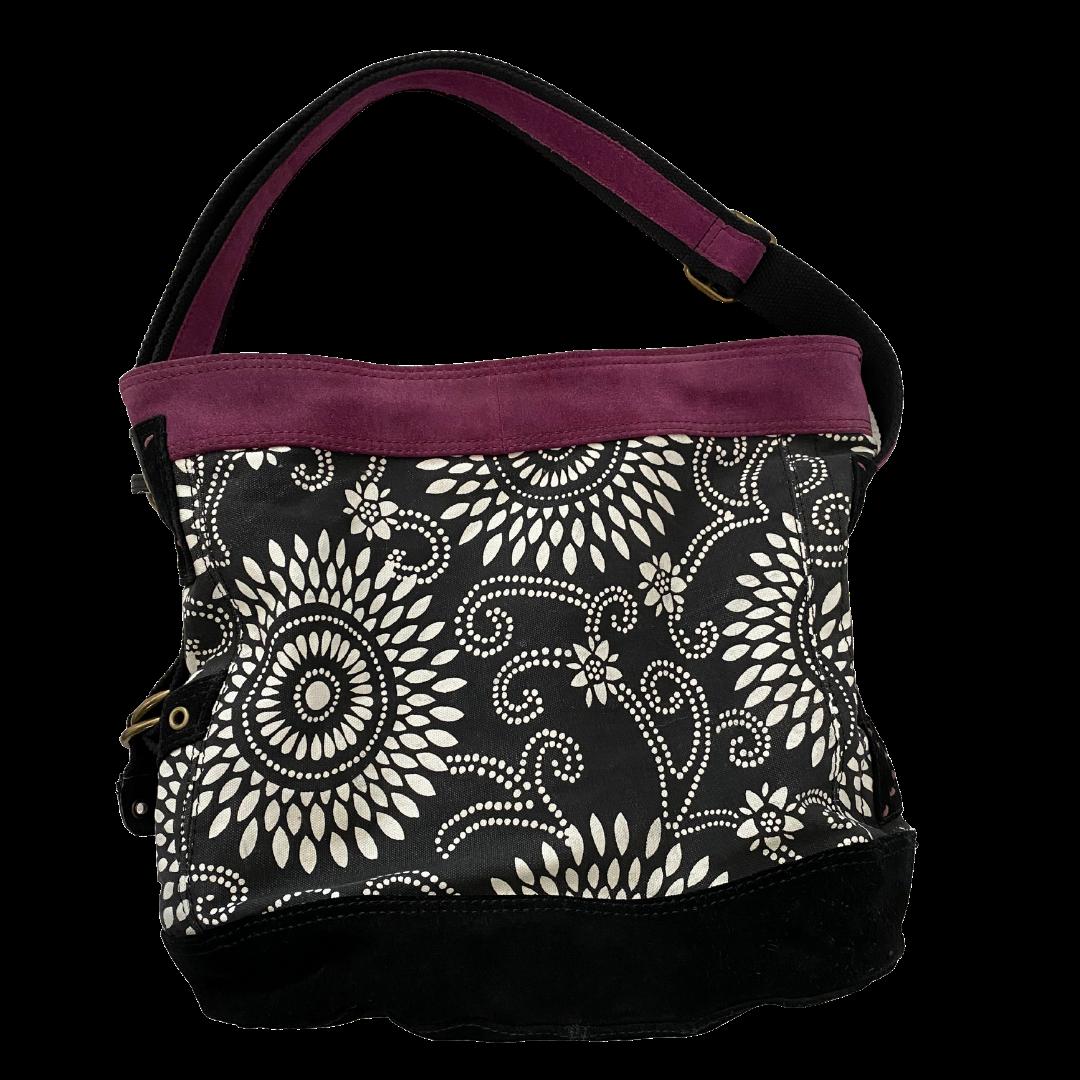 Lucky Brand Bucket Handbag with Suede Trim