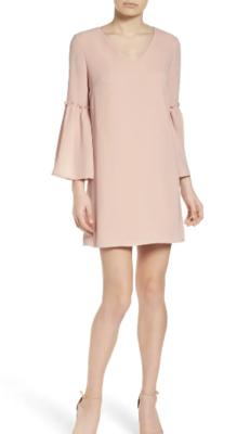 Chelsea28 Ruffle Bell Sleeve Lined Dress Women's XL