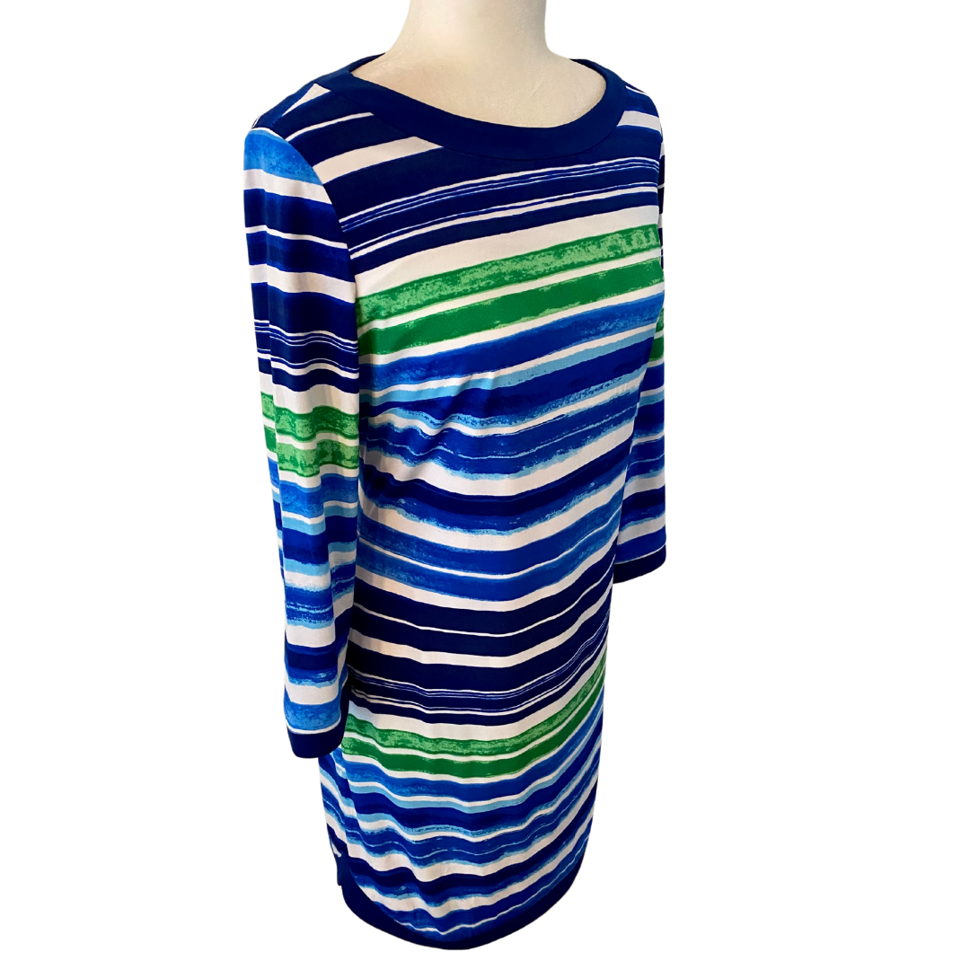 Vince Camuto Striped Lined Dress Women's 10