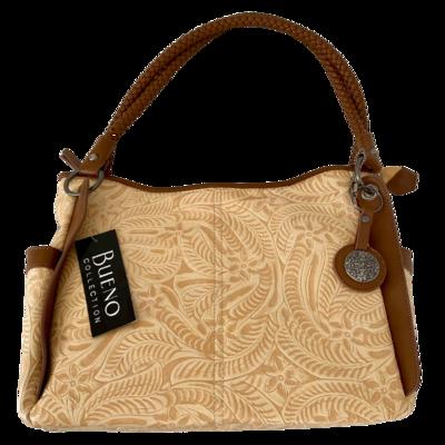 Bueno Saddle Embossed Handbag