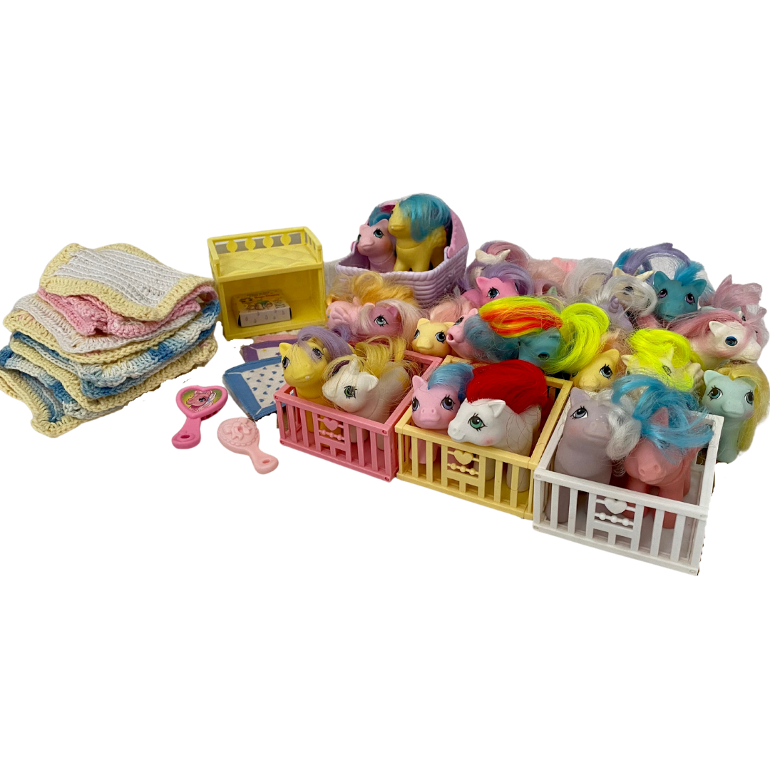 My Little Pony Vintage Collection of 25 Ponies and Accessories