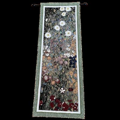 Fine Art Tapestries Flower Garden By Gustav Klimt Woven Tapestry Wall Art Hanging