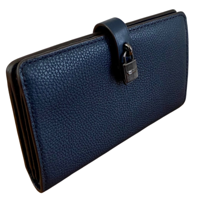 Michael Kors Adele Slim Blue Pebble Grain Wallet