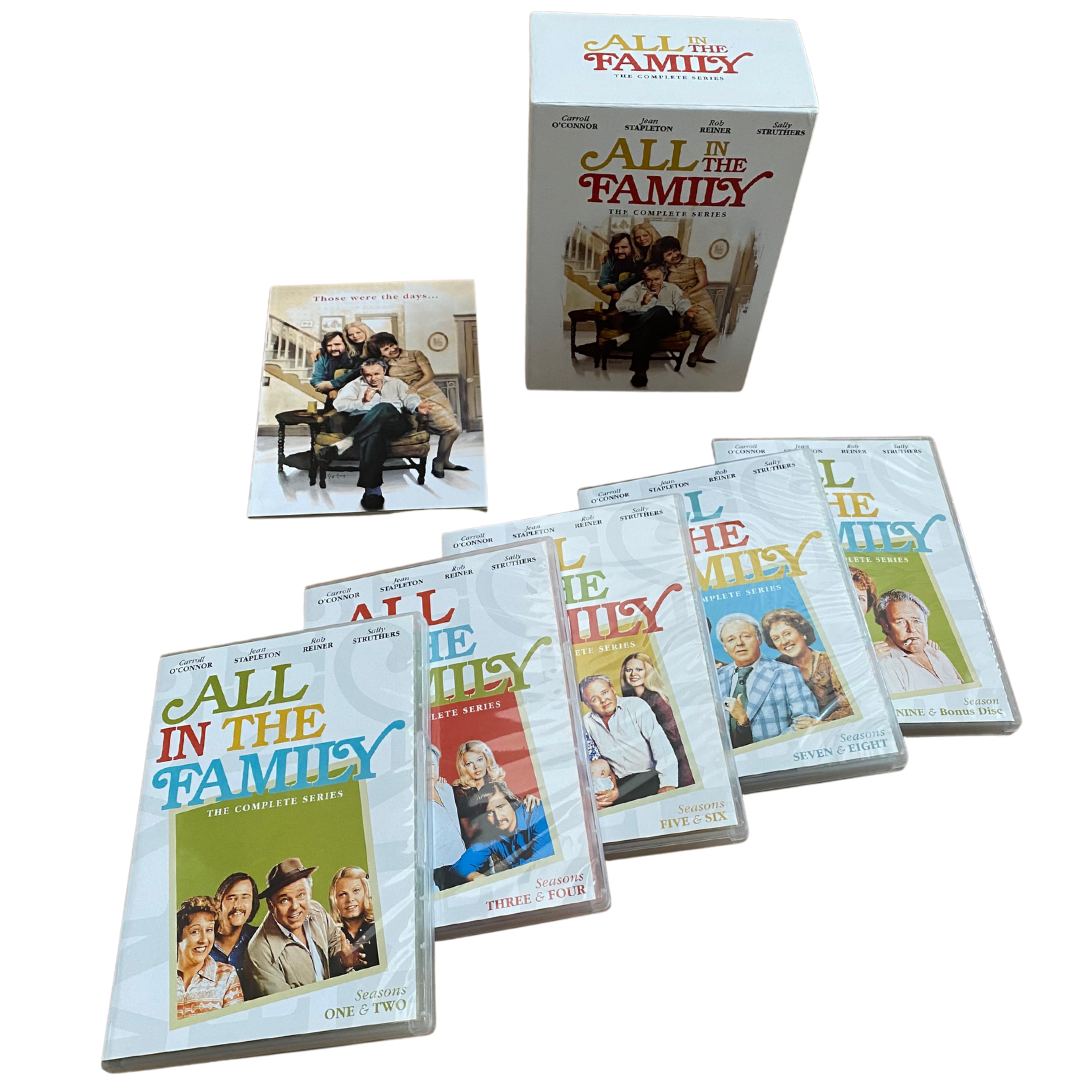 All In The Family The Complete Series 28-DVD Set with Collectible Book