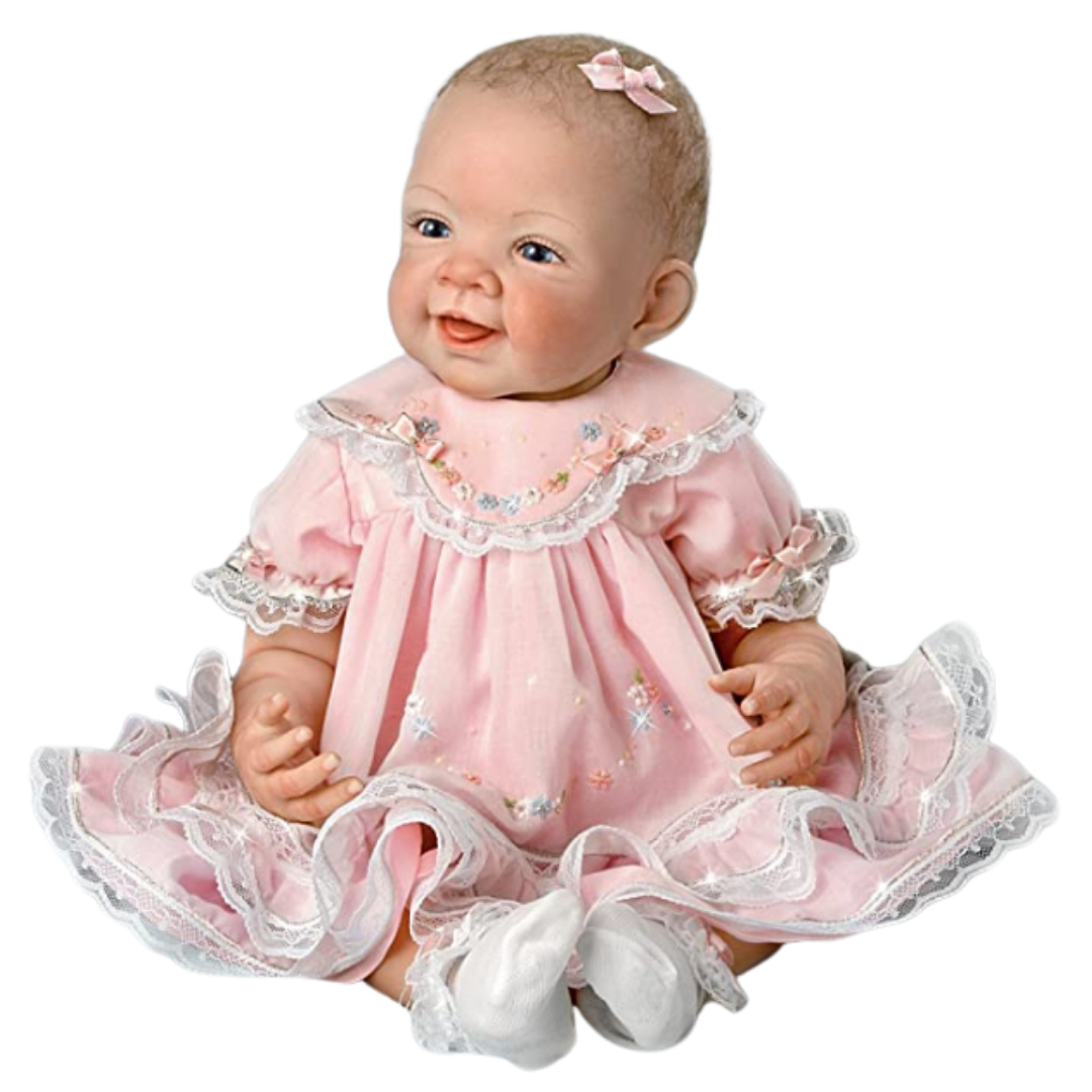 """Ashton-Drake Galleries 25th Anniversary """"Pretty in Pink"""" Real Touch Doll"""