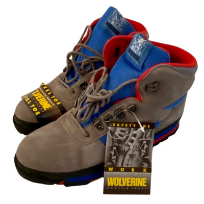 WOLVERINE Hiker-Steel Grey/Blue 0306 Boot Men's 10.5