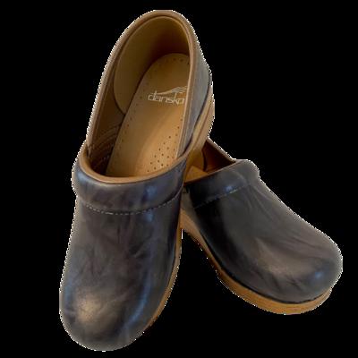 Dansko Leather Slip-On Grey Shoe Women's 38