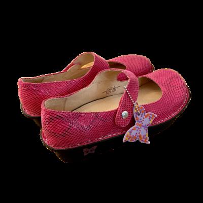 Alegria Slip-On Paloma Fuchsia Snake Shoe Women's 39
