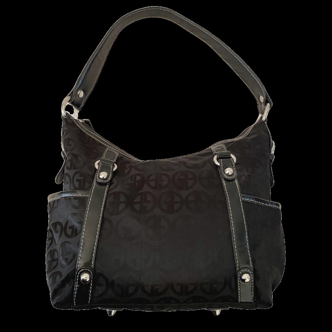 Giani Bernini Circle Sign Black Handbag