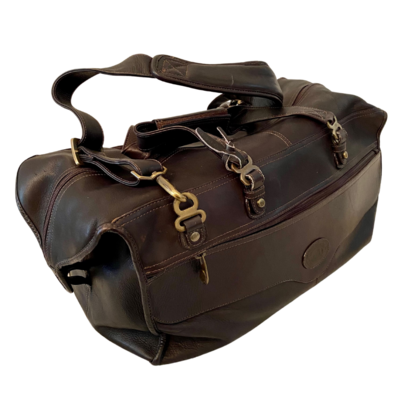 Santa Fe Large Leather Cabin Travel Duffle Bag with Brass Accents