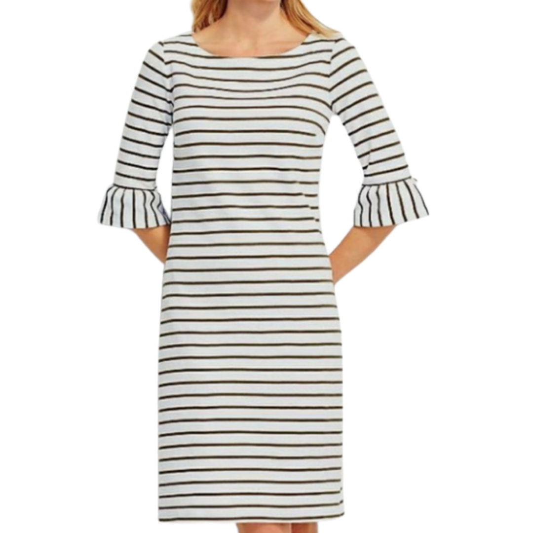 Talbots Striped Sheath Dress Women's XS