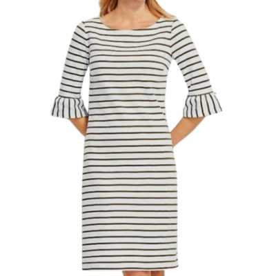 Talbots Striped Sheath Dress Women's XS