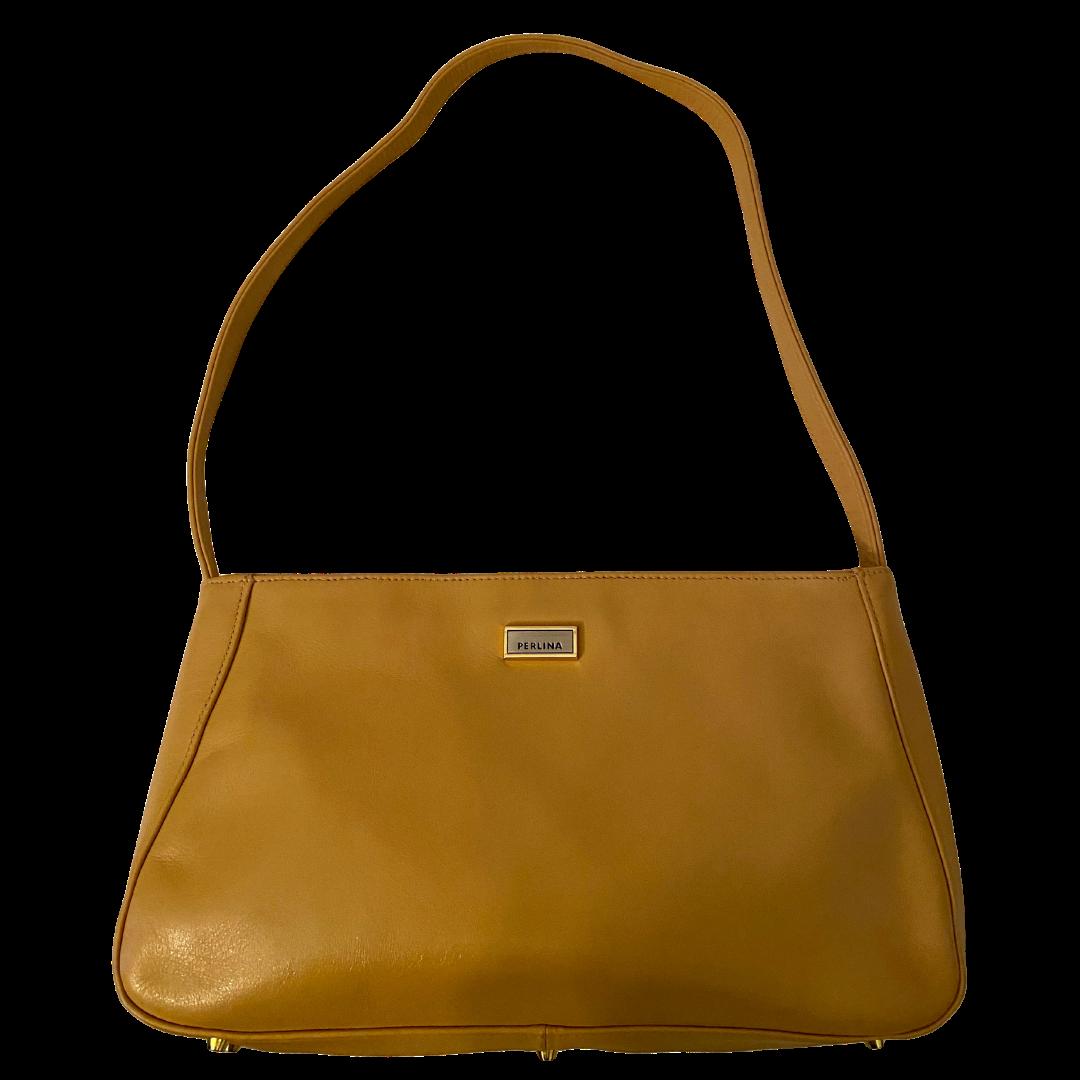 Perlina Soft Leather Camel Color Purse