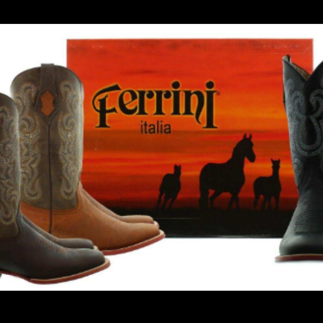 Ferrini Italia Leather Lizard Wingtip Western Boot Men's 10D