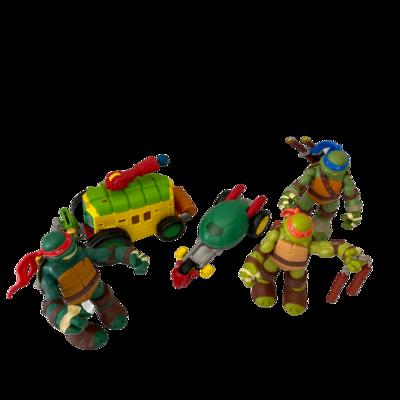 Teenage Mutant Ninja Turtle Action Figures and Accessories Lot of 10