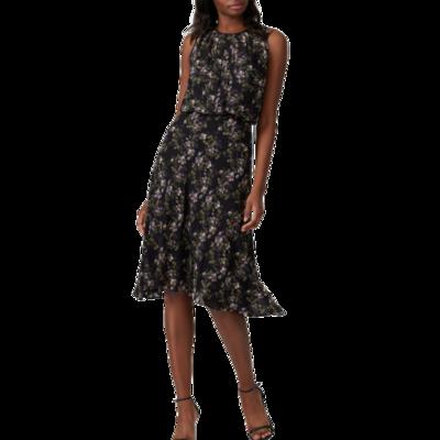 Rachel Roy Collection Black Floral Sleeveless Dress Women's Medium