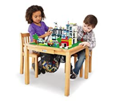 LEGO Imaginarium 2011 Original Flip Top Wood Play Activity Table with Two Chairs