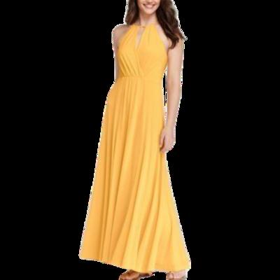 Ann Taylor Marigold Maxi Halter Top Lined Dress Women's Small