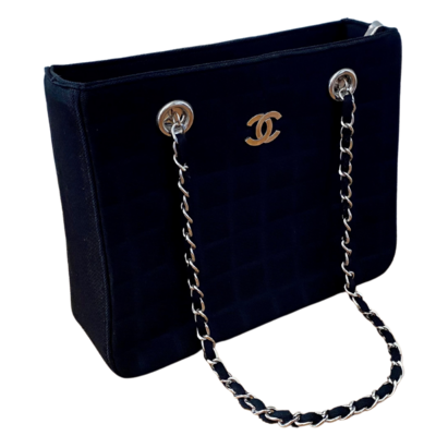 CHANEL Replica Quilted Fabric Braided Chain Purse