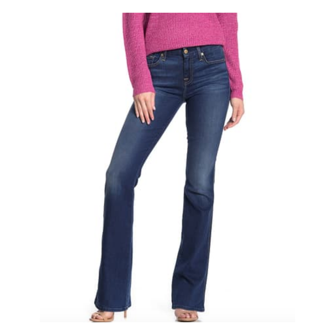 7 For All Mankind Bootcut with Beaded Pocket Jean Women's 28