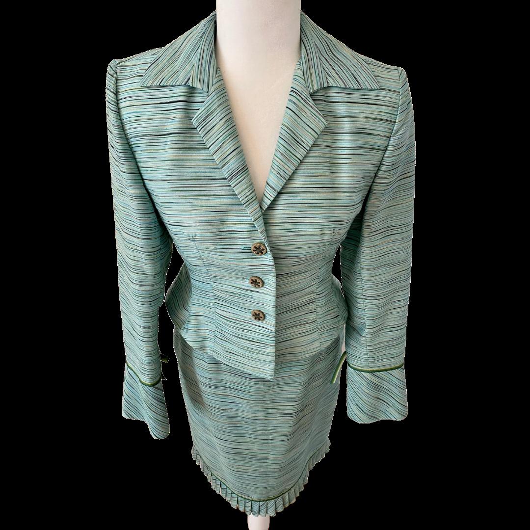 Kay Unger New York Lightweight Woven Fabric Skirt Suit Women's 4