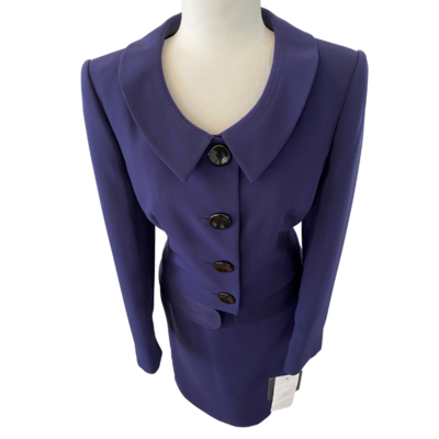 Liz Claiborne Skirt Suit in Eggplant Women's 10