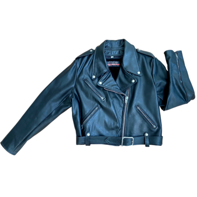 Brooks Vintage Motorcycle Jacket with Removable Lining Men's 42