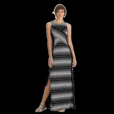 White House Black Market Striped Knit Maxi Dress Women's Small