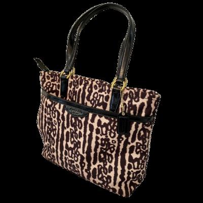 COACH Ocelot Print Fabric Tote 31901