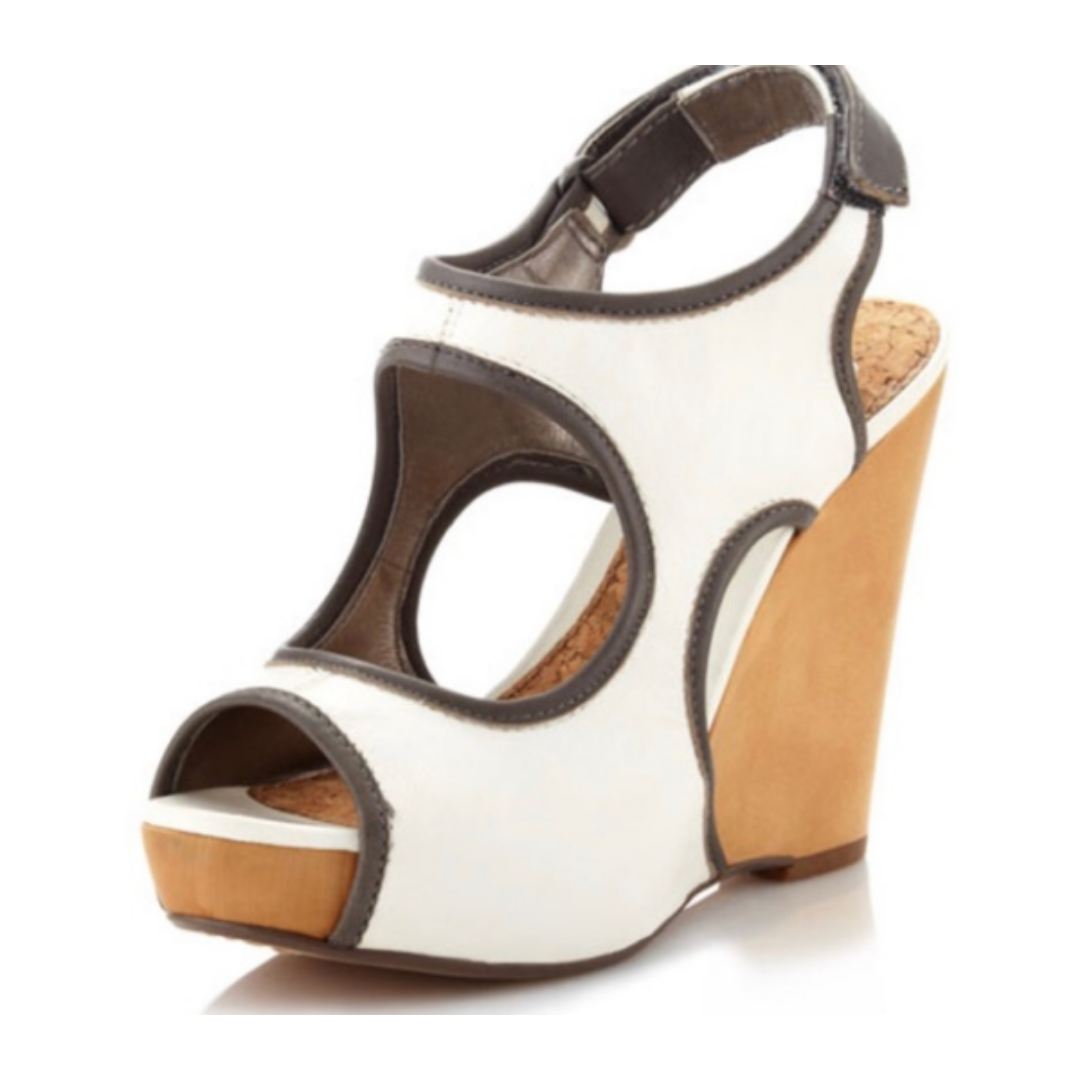 Sam Edelman Two-Tone Leather Wedge Women's 9
