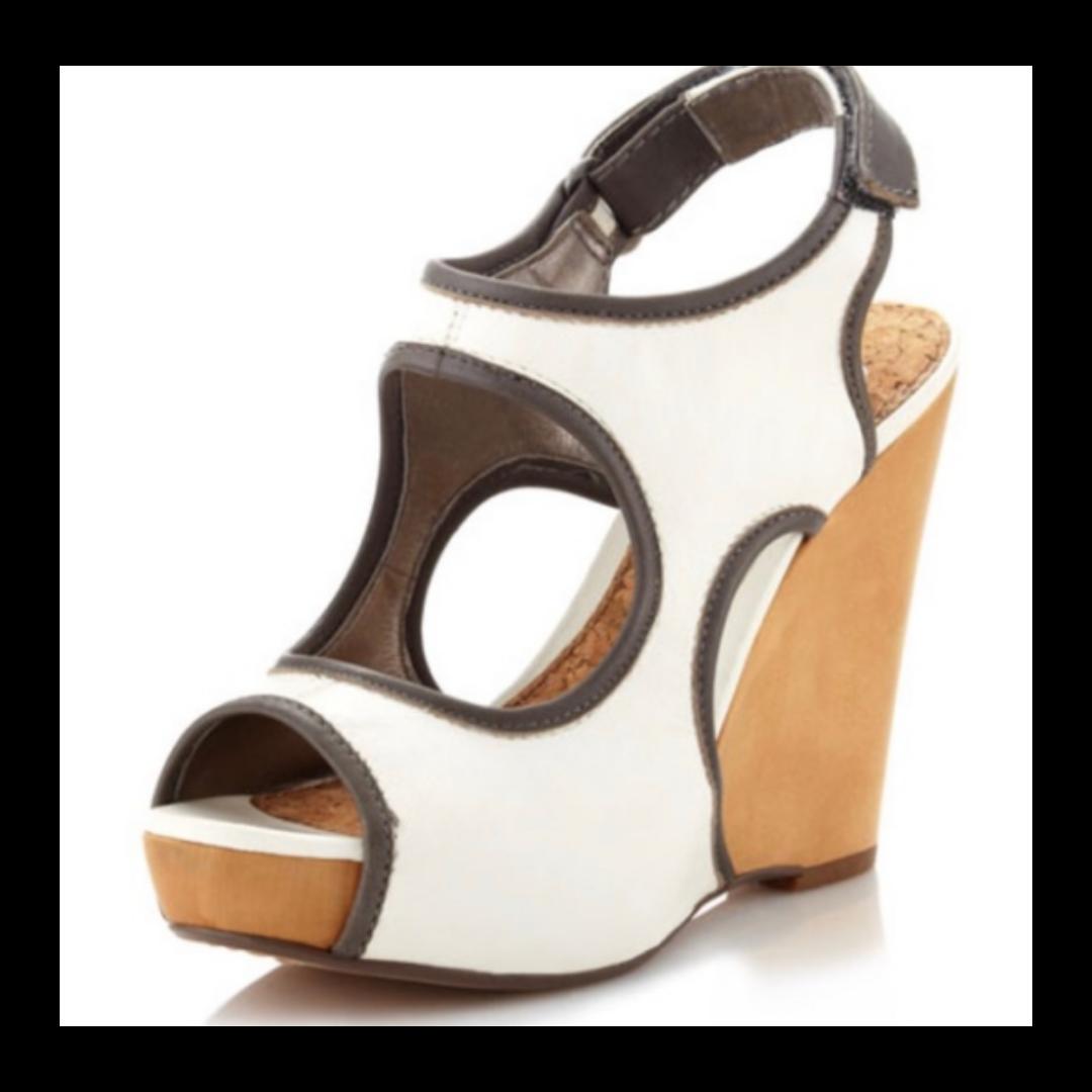 Sam Edelman Two-Tone Leather Wedge Women's 9