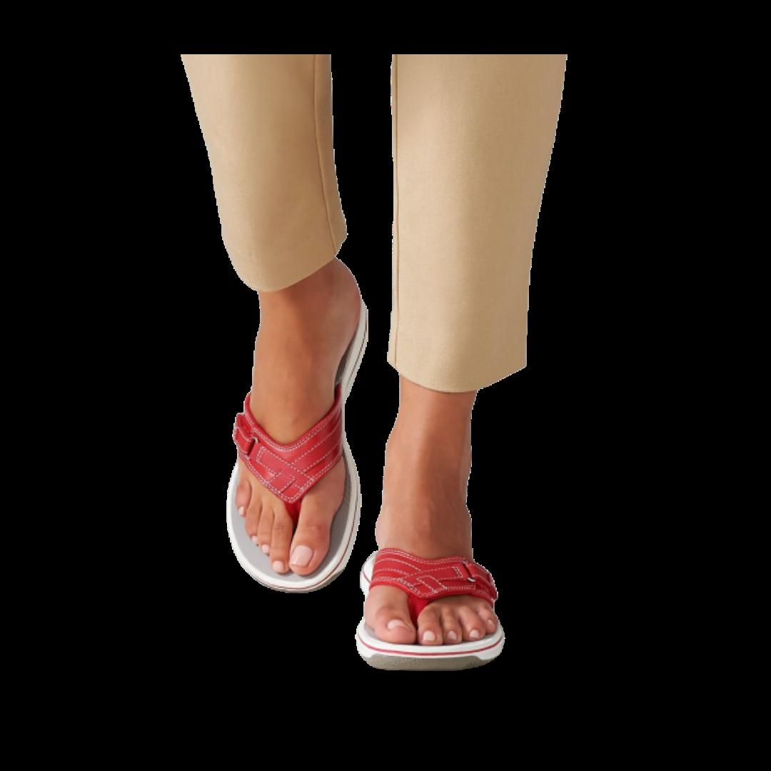 Clarks® Breeze Sea Cloudstepper Flip Flop Sandals Women's 6