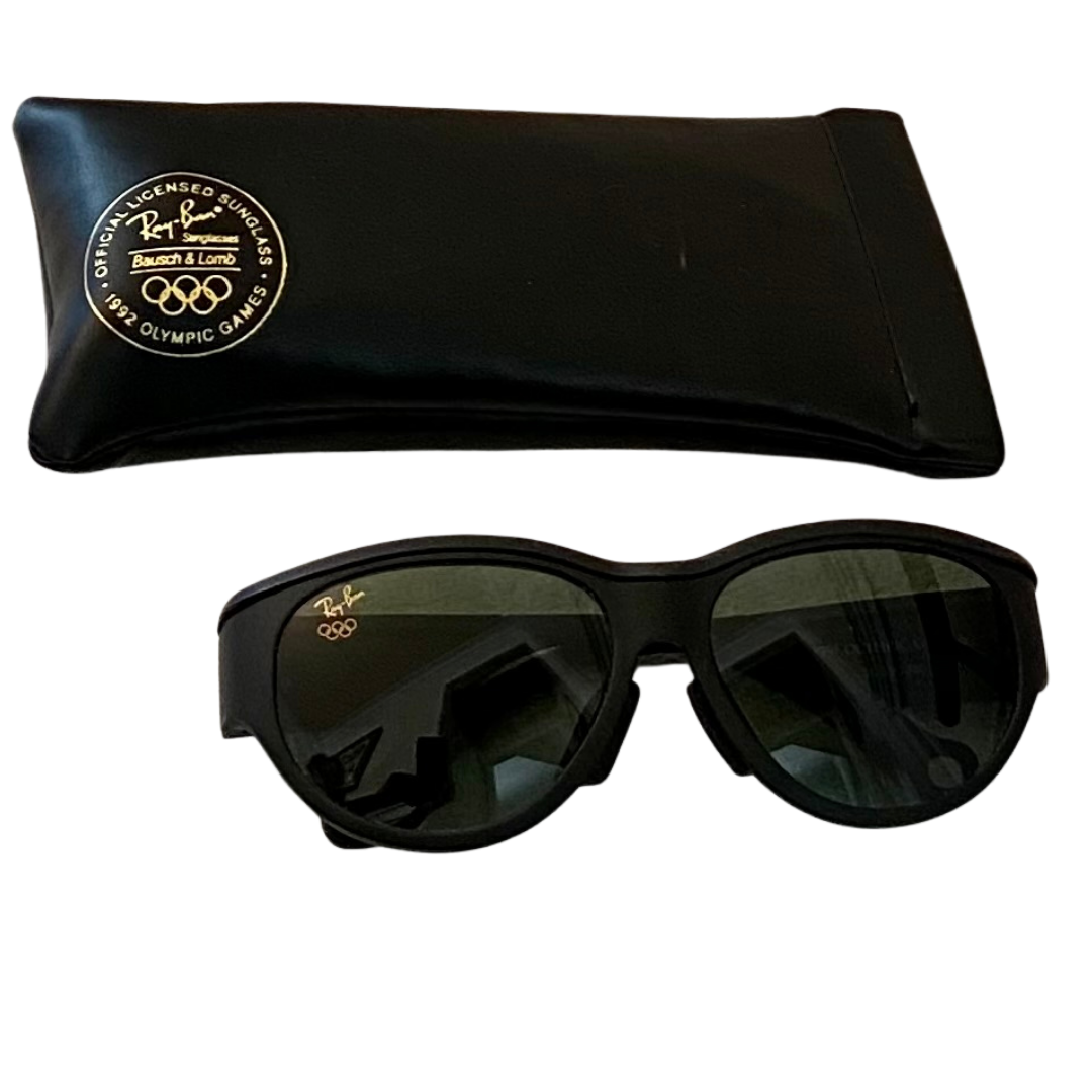Ray Ban Bausch & Lomb Official Licensed 1992 Olympic Games Sunglasses and Case