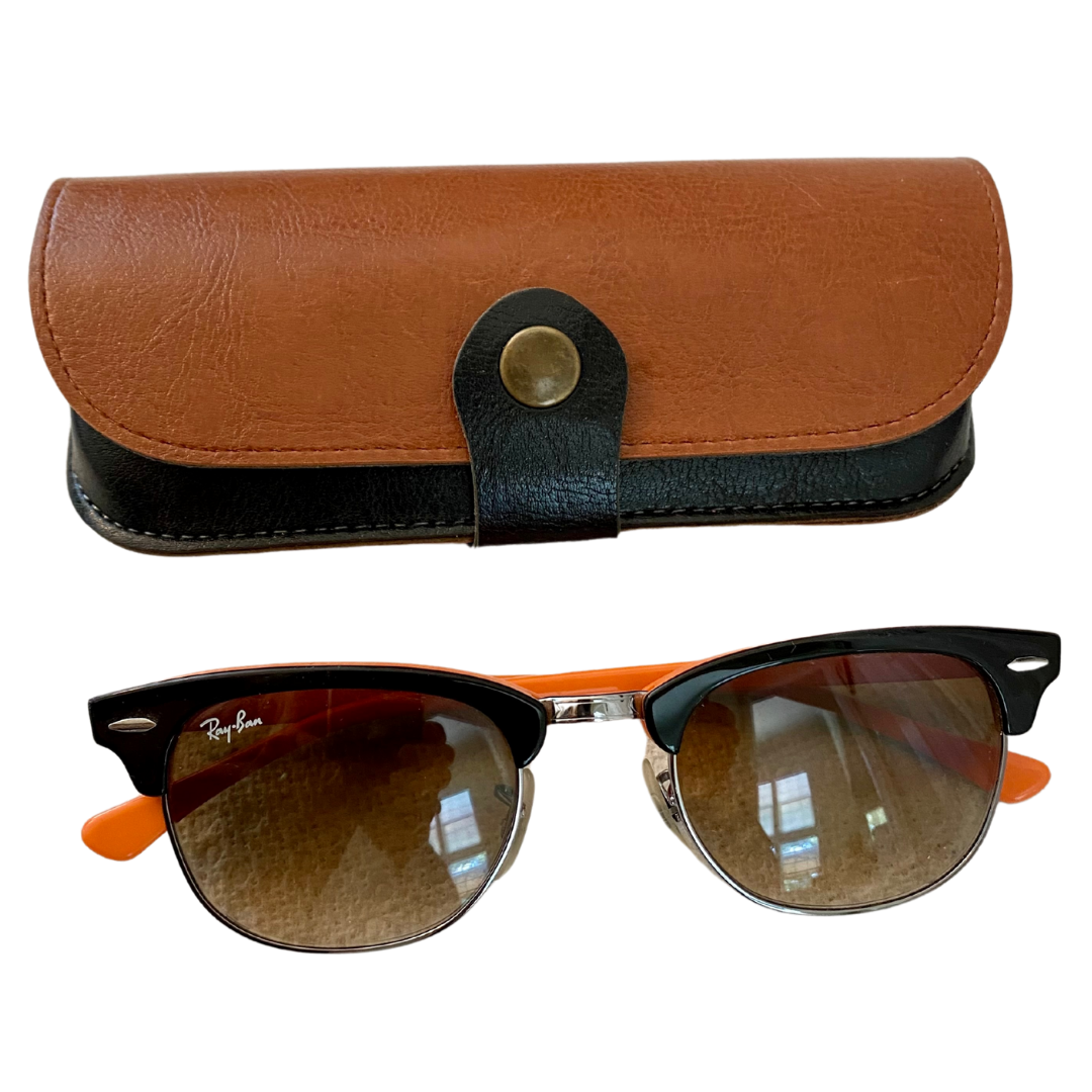 Ray Ban Clubmaster RB2156 Made in Italy Sunglasses and Case