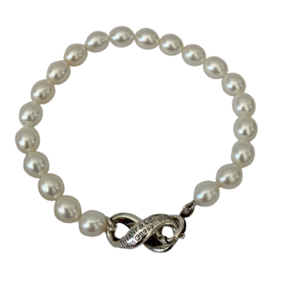 Tiffany & Co 925 Sterling Silver Circa 1999 Pearl Bracelet