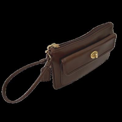 COACH Vintage Turnlock Wristlet Wallet