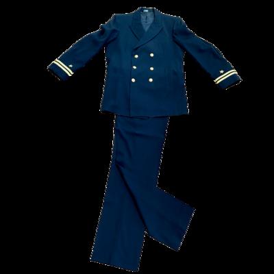 Vintage Naval Lieutenant Dress Blue Uniform Davis Clothing Co Jacket & Pants