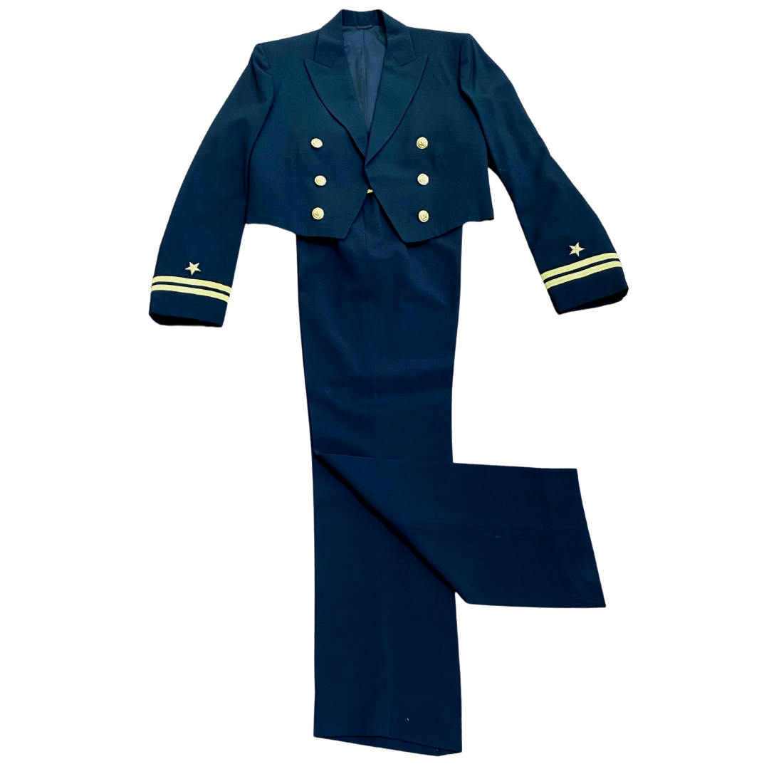 Vintage Naval Officer Dress Blue Uniform Naval Uniform Shop Jacket & Davis Clothing Co Pants